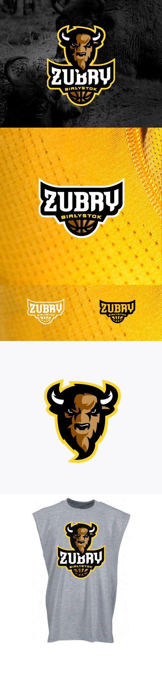 """""""Zubry Bialystok"""" - Awesome Sports Logo Designs by Kamil Doliwa   iBrandStudio"""