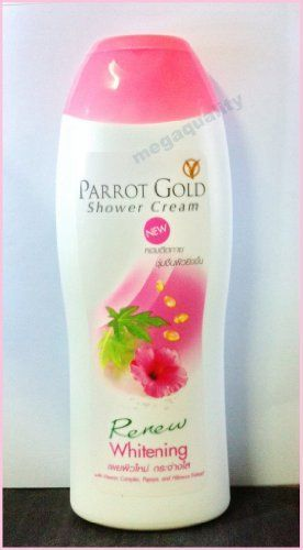 Parrot Gold Shower Cream Soap Whitening Body Wash Vitamin Papaya 200 Ml. Free Shipping From Thailand . $45.00. Brand : PARROT GOLD Product Size : 200 ml. Condition : Brand new & Never used     PARROT GOLD SHOWER CREAM WHITENING BODY WASH  VITAMIN COMPLEX PAPAYA & HIBISCUS    Decription :          Whitening Skin Formula, Renew skin with Vitamin Complex, Enriched with papaya and hibiscus extract for whitening skin. Refreshing with moisturizer and conditioner     ...
