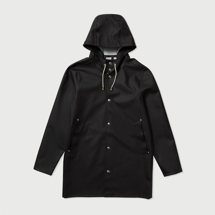 Stockholm Black Raincoat – Stutterheim Raincoats