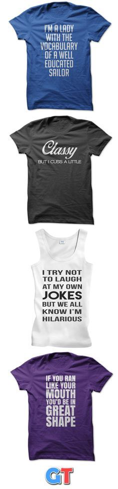 Hilarious sayings and clever slogans will get you noticed when you wear our shirts. Super comfortable shirts in multiple styles, colors and sizes. Explore our entire collection of funny shirts. Buy 2 and get free shipping.