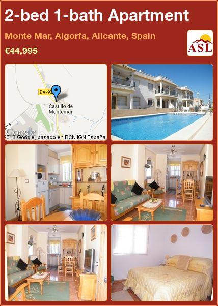 2-bed 1-bath Apartment in Monte Mar, Algorfa, Alicante, Spain ►€44,995 #BargainPropertyInSpain