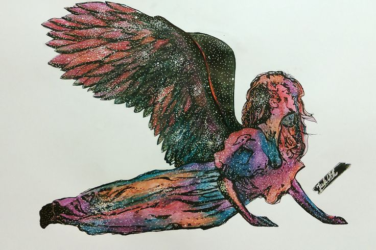 By JuhVik angel, angel wind, wind, galaxy