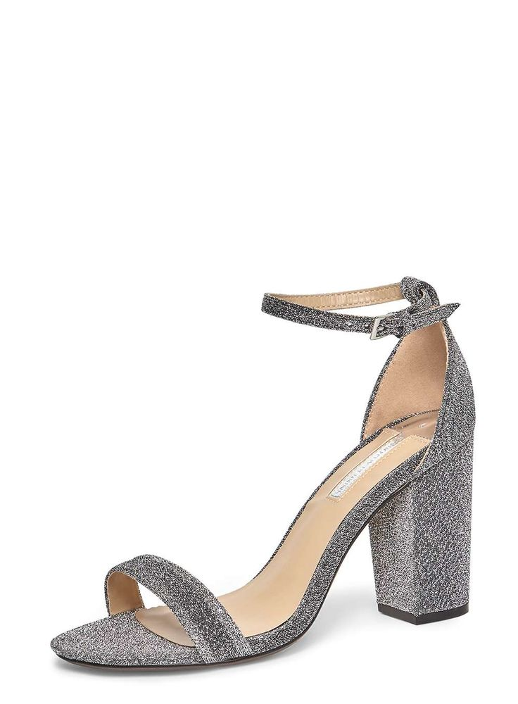 Womens Silver 'Bailey' Heeled Sandals- Silver