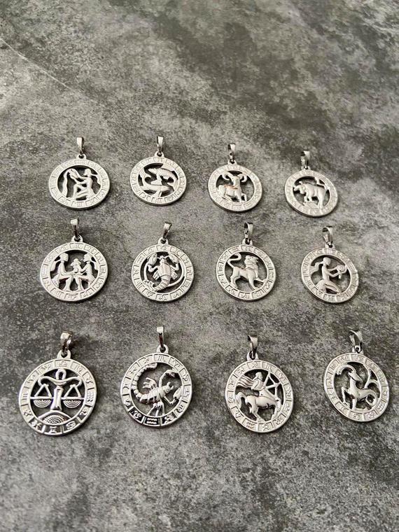 Birthstone Necklace Celestial Astrology Necklace Zodiac Necklace Gift Star Sign Pendant Layering Necklace Astrology Necklace Birthstone Necklace Zodiac Necklaces