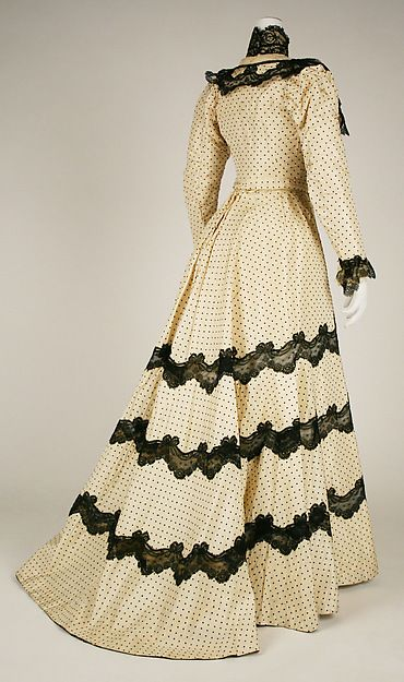 Afternoon dress - Afternoon dress Date: 1897–98 Culture: American or European Medium: silk Dimensions: [no dimensions available] Credit Line: Gift of Maria Drummond, in the Memory of Hope Clark Spater, 1974