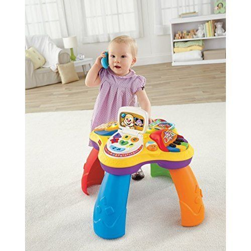 Learning Table Play Toys Kids, Activity Laugh & Learn Puppy Friends Fisher-Price #FisherPrice