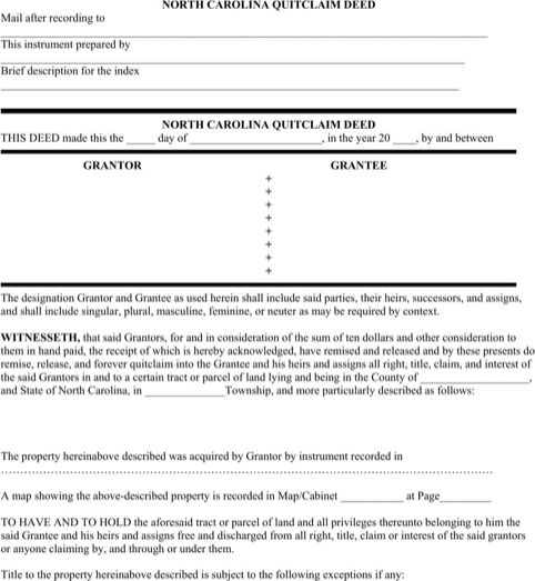 Quit Claim Deed. In A Quitclaim Deed, A Grantor Relinquishes All ...