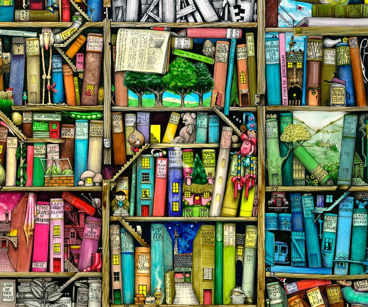 Magical Bookshelf - by Colin Thompson