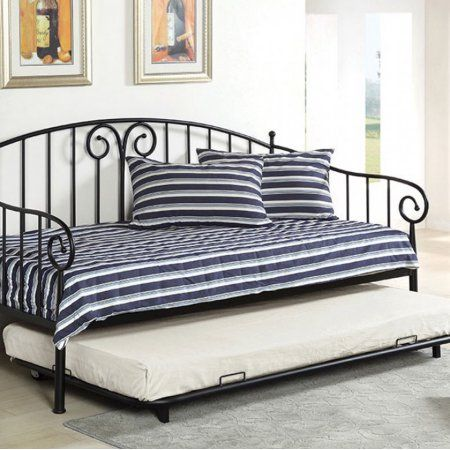 Hamden Black Daybed With Trundle