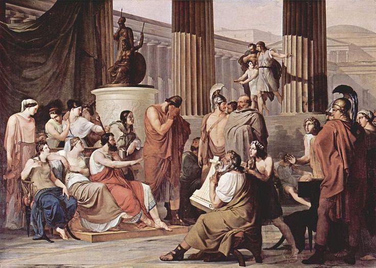 Francesco Hayez, Ulisse alla corte di Alcinoo, 1814 - 1816. Olio su tela, 350×580 cm. Museo nazionale di Capodimonte, Napoli