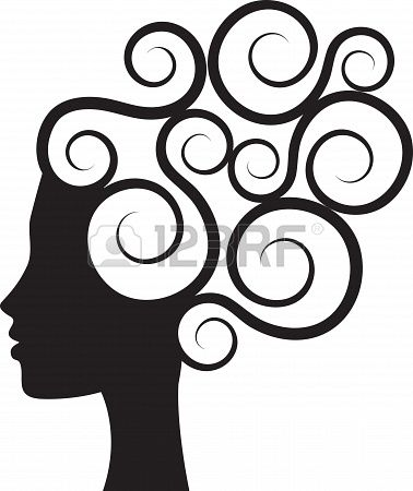 Silhouette of woman Stock Photo - 19846170