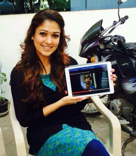 """Charming, Pretty Nayanthara, enjoyed to watching the first look teaser of our action & thriller movie """"Sathuranka Vettai"""", she too is waiting for our release soon and also wished the entire team a grand success..."""