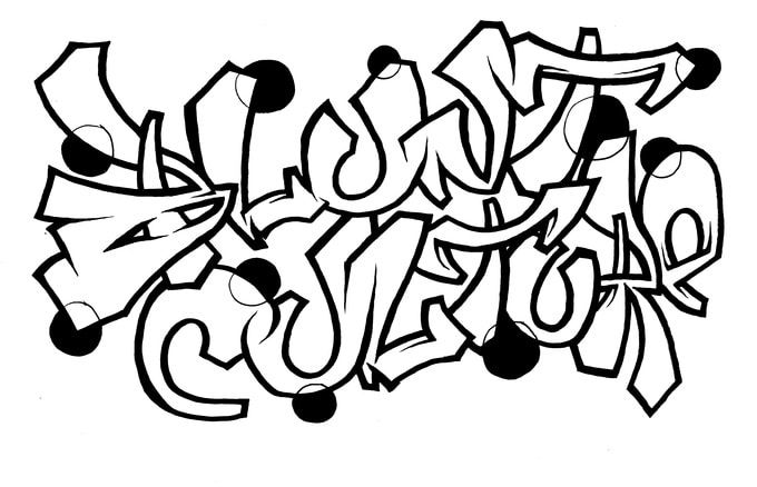 graffiti word coloring pages | Home / Graffiti My Name / Your Name in Graffiti Letters (B/W)