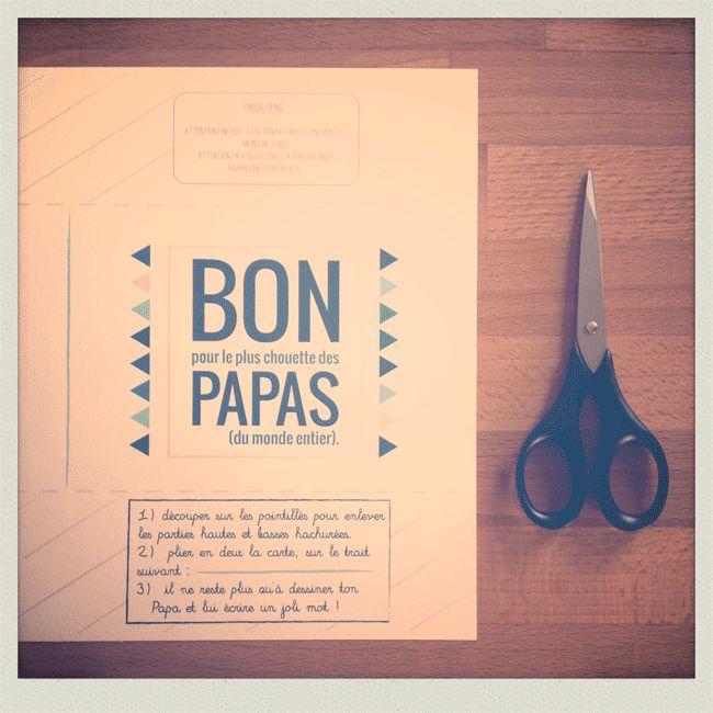 BON pour le plus chouette des PAPAS (du monde entier) à imprimer chez soi #DIY #fetedesperes © Pramax* - 2014