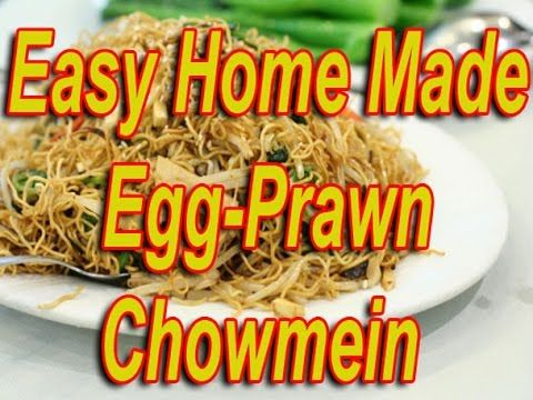 How to Make Egg-Prawn Chow Mein at Home\ (Easy Indian Chow mein Recipe)