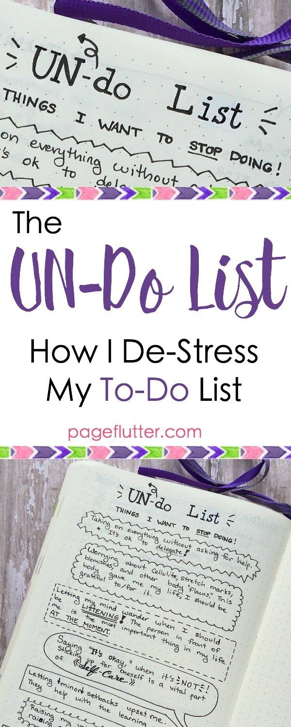 pageflutter.com   My bullet journal list of things to STOP doing. Productivity needs a break, too!