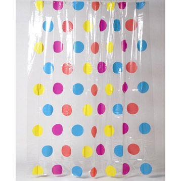 rideau de douche en plastique party sensea jaune anis n3 180x200 cm - Rideau De Douche Color