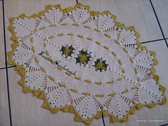 82 best tapetes de barbante images on pinterest in for Tapetes de crochet
