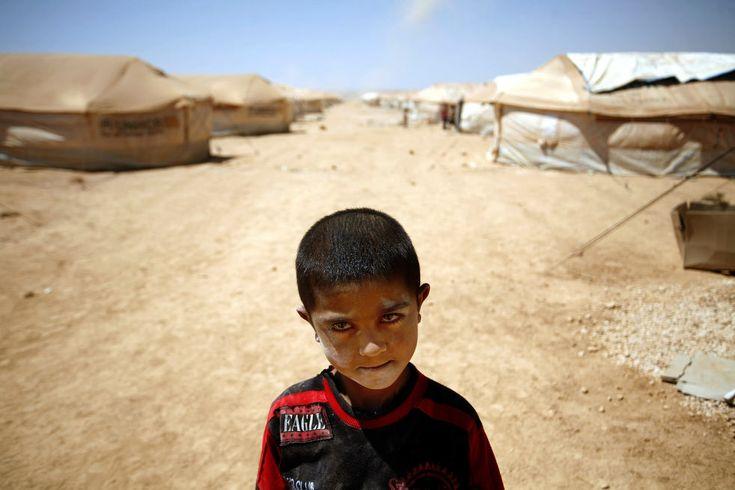 7-летний Монтер Халед из Дараа в лагере беженцев Заатари в Мафраке, Иордания, 30 августа 2012.