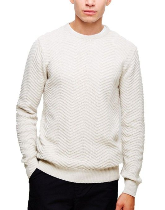 The Idle Man Jacquard Knit Jumper Off White #StyleMadeEasy