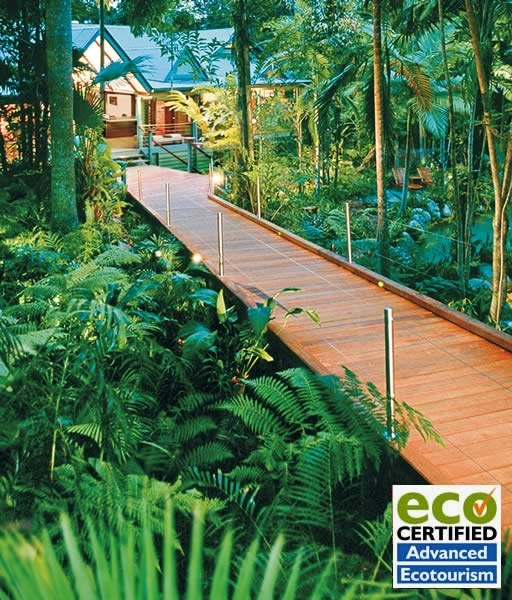 Silky Oaks Lodge & Healing Waters Spa in the oldest living rainforest in Australia.