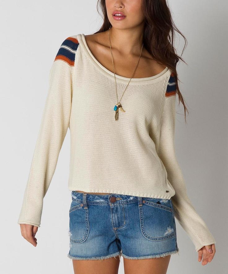 O'Neill White Varsity Sweater