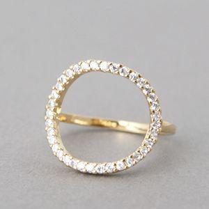 Swarovski Gold Circle Ring