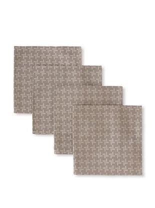 54% OFF Garnier-Thiebaut Set of 4 Origami Napkins (Zinc)
