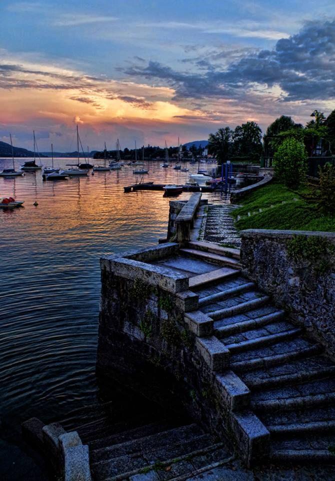 #Belgirate al tramonto ( #Verbania #Piedmont #Italy )