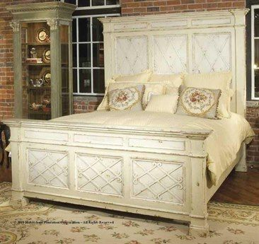 Habersham Mediterranean Manor King Panel Bed