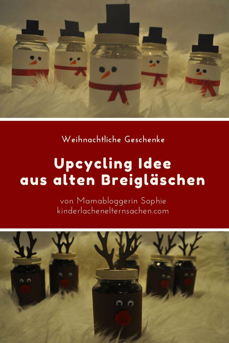 Schnelle Bestelidee für Weihnachten. Mit dieser einfachen DIY Anleitung zauberst du tolle Weihnachtsgeschenke und Mitbringsel. Von der Rentierkake bis zum Snowman Poop ! Gefüllt mit Süßigkeiten zaubern die lustigen selbsgemachten upcycling Breigläschen jeden ein Lächeln ins Gesicht #weihnachten