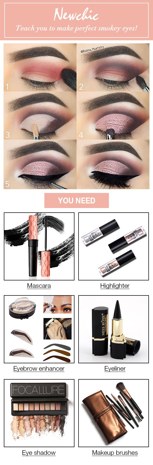 Newchic teaches you to make perfect smokey eyes! Giving you a super sexy look!