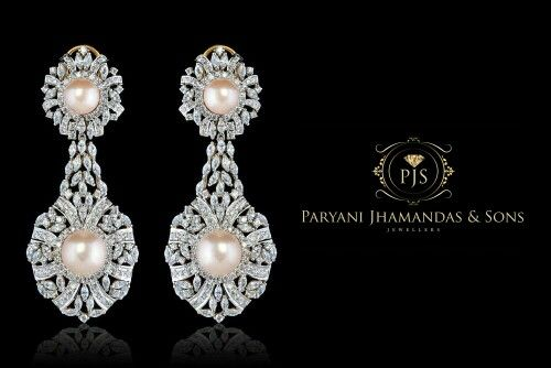 Pink basra pearl and finness diamonds creating charismatic connection