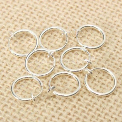 8PCS-Punk-Clip-On-Fake-Nose-Lip-Hoop-Rings-Earrings-Silver-Body-Piercing-Jewelry
