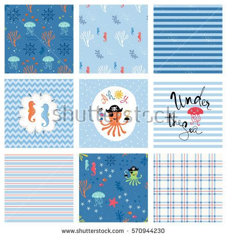 Kid's fashion seamless patterns and prints. Use for T-shirts, posters, cards, birthday and party invitations. Vector illustration.