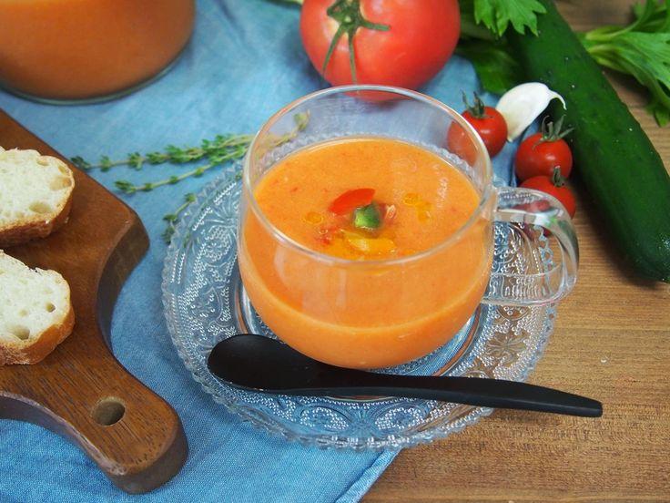 暑い夏におすすめ!ひんやり美味しい冷製スープ「ガスパチョ」のレシピをご紹介。