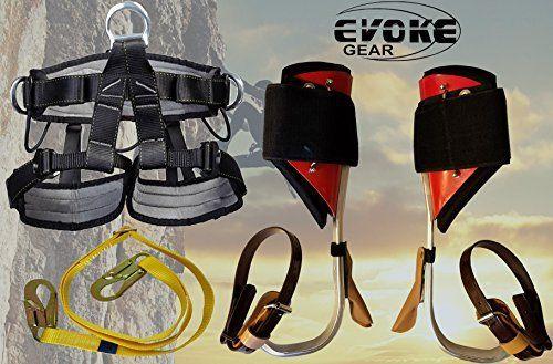 Evoke Gear Tree Climbing Spike Set Aluminum Pole Spurs Climbers With Pro Harness Best Offer For Outdoorfull Com In 2020 Aluminum Pole Spurs Rock Climbing Equipment