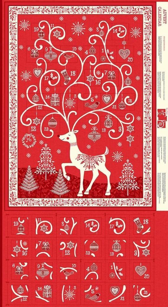 Makower Red SCANDI Christmas 2019 100/% Cotton Patchwork Craft Fabric
