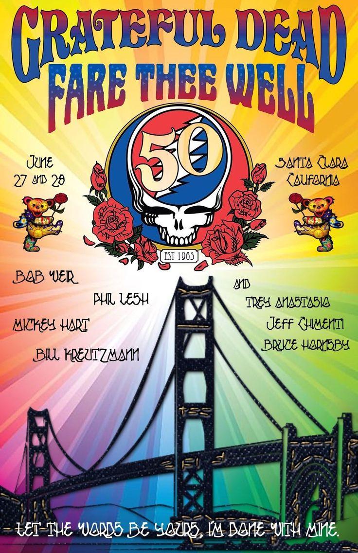 Poster design 2015 - Grateful Dead Fare Thee Well Concert Poster Santa Clara June 27 28 2015 Ebay