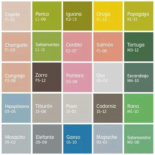 Pinturas comex - Paleta de colores pintura interior ...
