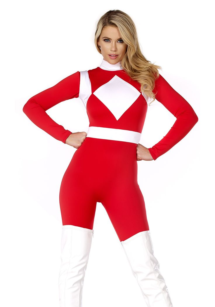 Women's Dominance Action Figure Red Catsuit