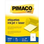 Etiqueta ink-jet/laser A4 288,5x200,0 267 Pimaco 25 uni $15,40