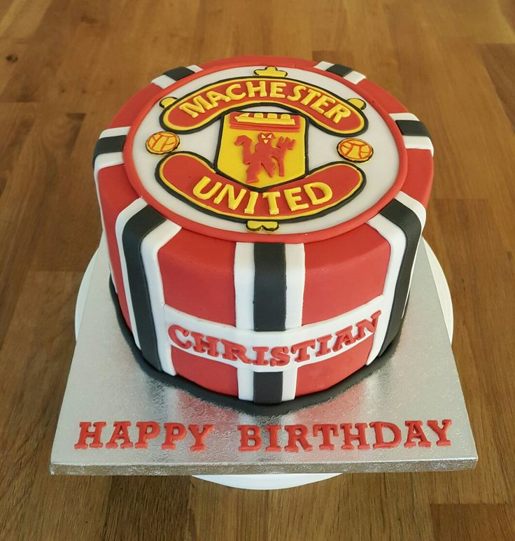 Manchester United theme birthday cake