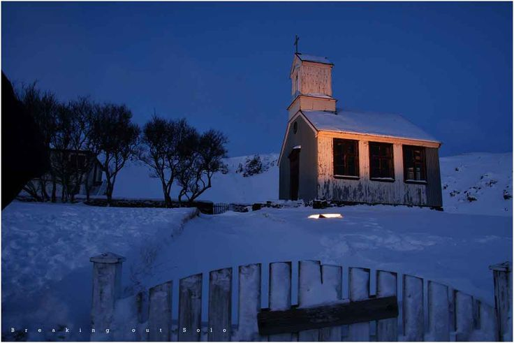 An abandoned church in Iceland