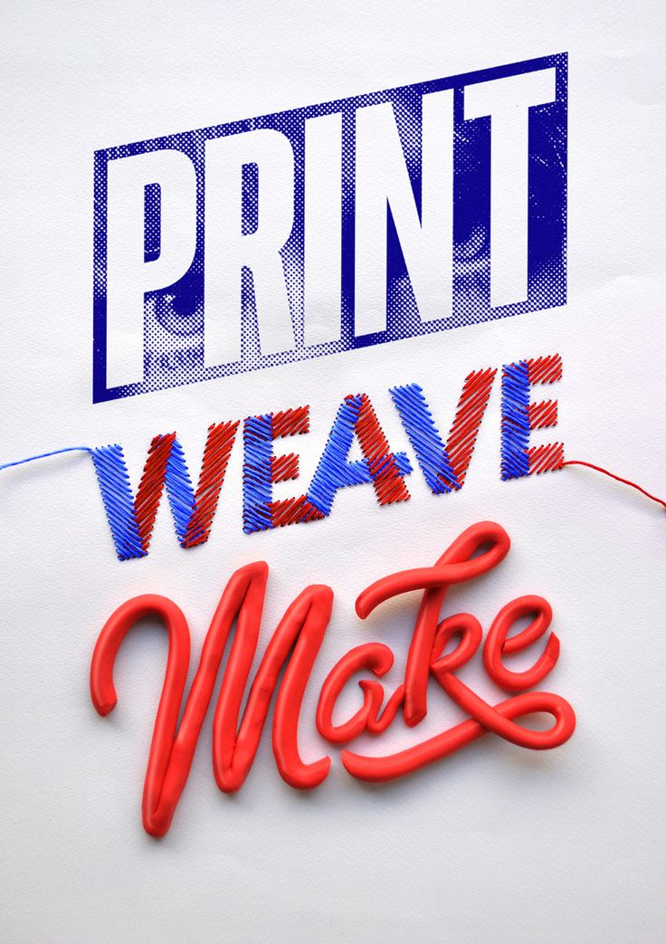 Print Weave Make - Luke Lucas – Typographer | Graphic Designer | Art Director