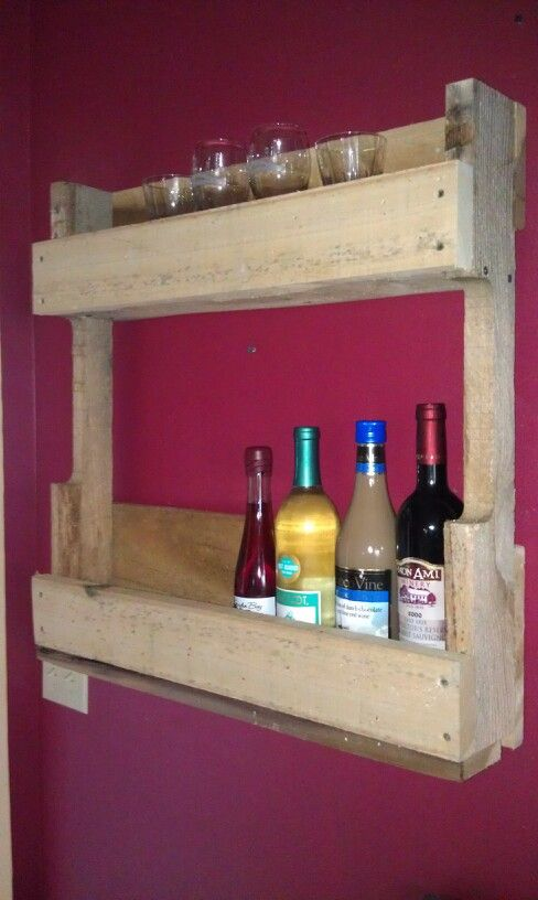 Finally made a pallet wine rack.
