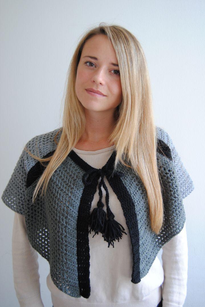 Crochet cape from Garnituren - recipe soon to follow on the blog.