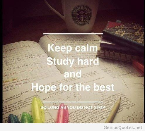 Keep calm and study wallpaper