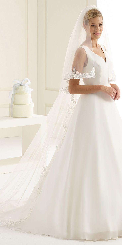 Magical veil S167 with Swarovski crystals made for a winter bride! See more at bianco-evento.com #biancoevento #wedding #weddingdress #bridalwear #veil #bridaccesorries #winterwedding #weddingideas