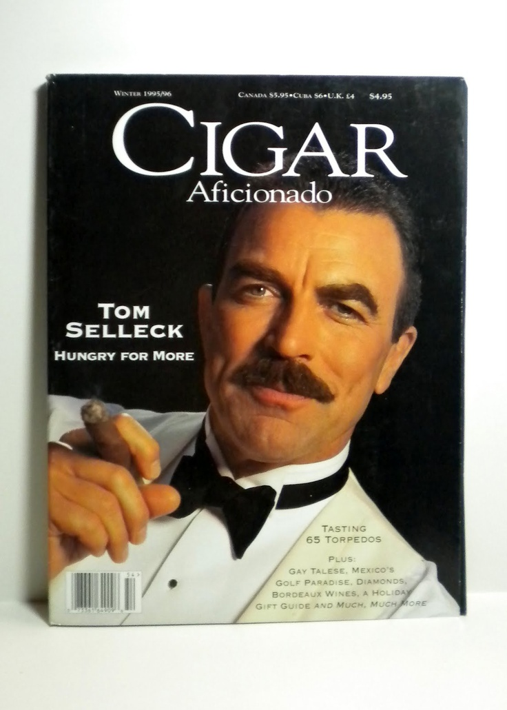 Tom Selleck and his cigar, classic.
